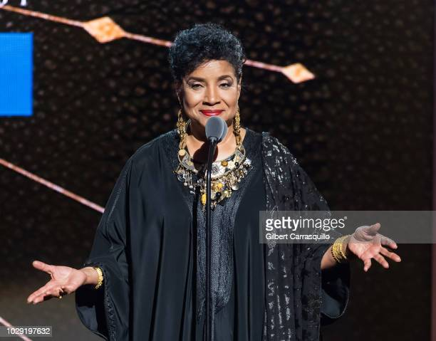 Actress Phylicia Rashad speaks on stage during the 2018 Black Girls Rock at New Jersey Performing Arts Center on August 26 2018 in Newark New Jersey