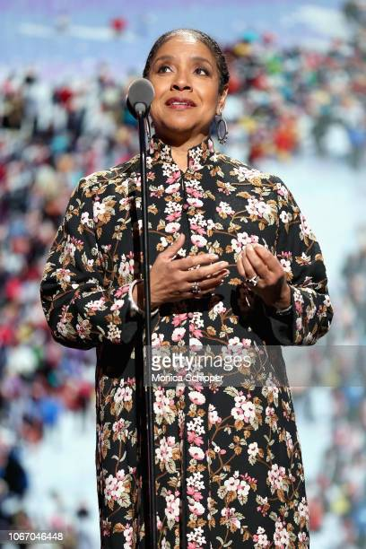 Actress Phylicia Rashad speaks onstage during AHF and Debbie Allen Present Keeping the Promise-1 000 Lives In Care: Celebrating Icons of Dance at The...