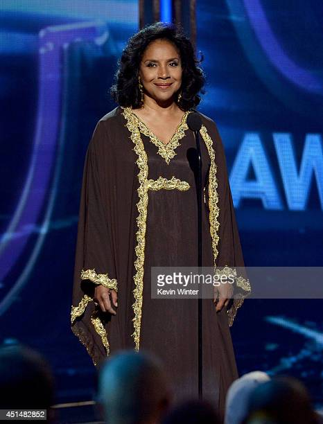 Actress Phylicia Rashad speaks onstage during the BET AWARDS '14 at Nokia Theatre L.A. LIVE on June 29, 2014 in Los Angeles, California.