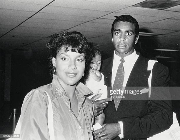 Actress Phylicia Rashad sportscaster Ahmad Rashad and daughter Condola Rashad attend NBC TV Affiliates Dinner on June 2 1987 at the Century Plaza...
