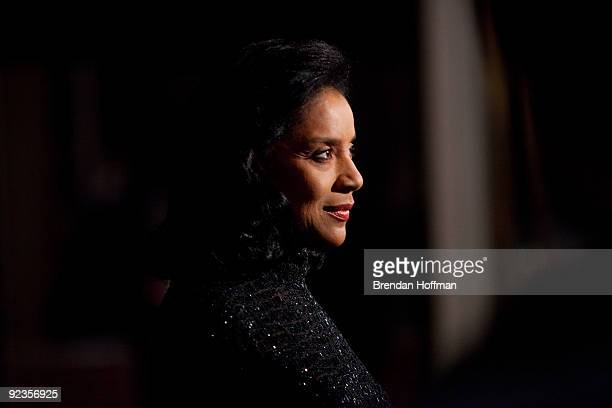 Actress Phylicia Rashad talks with reporters at the 12th annual Mark Twain Prize for American Humor at the John F. Kennedy Center on October 26, 2009...