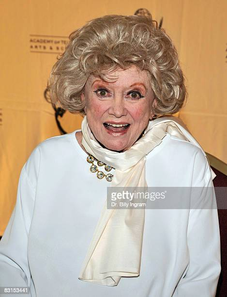 Actress Phyliss Diller arrives at the Academy of Television Arts Sciences presentation of From Standup to Sitcom on October 6 2008 at the Leonard H...