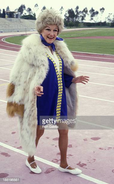 Actress Phyllis Diller attends First Annual Rock Roll Sports Classic on March 10 1978 at the University of California in Irvine California