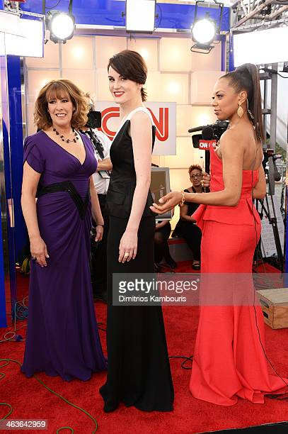Actress Phyllis Logan actress Michelle Dockery and news anchor Nischelle Turner attend 20th Annual Screen Actors Guild Awards at The Shrine...