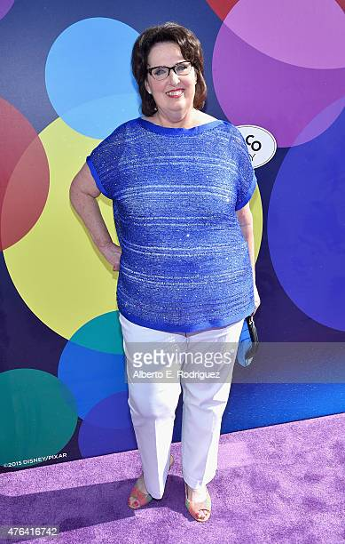 Actress Phyllis Smith attends the Los Angeles Premiere and Party for Disney•Pixar's INSIDE OUT at El Capitan Theatre on June 8, 2015 in Hollywood,...