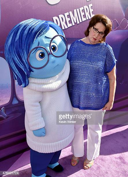Actress Phyllis Smith attends the Los Angeles premiere of DisneyPixar's Inside Out at the El Capitan Theatre on June 8 2015 in Hollywood California