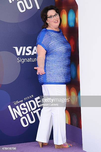 """Actress Phyllis Smith attends the premiere of """"Inside Out"""" at the El Capitan Theatre on June 8, 2015 in Hollywood, California."""