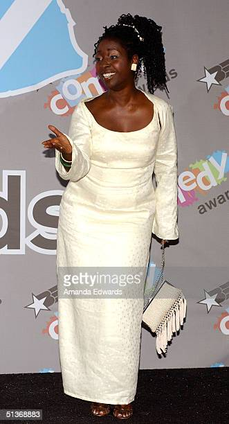 Actress Phyllis Yvonne Stickney poses backstage at the FirstEver BET Comedy Awards at the Pasadena Civic Auditorium September 28 2004 in Pasadena...