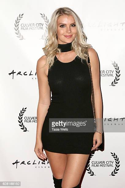 Actress Pia Lamberg attends the US premiere of the feature film Polaris at ArcLight Cinemas on December 6 2016 in Culver City California