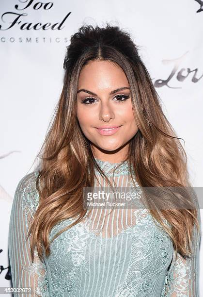 Actress Pia Toscano attends For Love and Lemons annual SKIVVIES party cohosted by Too Faced and performance by The Shoe at The Carondelet House on...