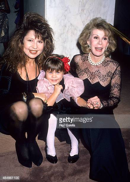 Actress Pia Zadora daughter Kady Riklis and comedienne Joan Rivers attend the Third Annual Joan Rivers Celebrity Tennis/Auction Classic to Benefit...