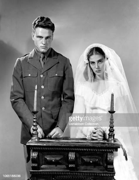 Actress Pier Angeli and John Ericson in a scene from the movie'Teresa'