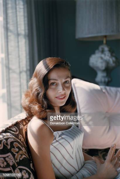Actress Pier Angeli poses for a portrait at home in 1956 in Los Angeles California