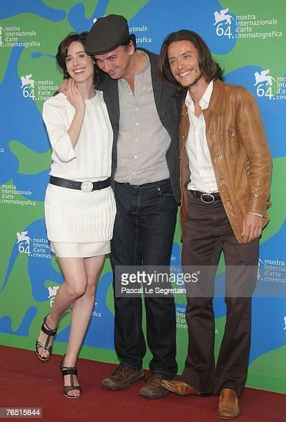 Actress Pilar Lopez de Ayala director Jose Luis Guerin and actor Xavier Lafitte attend the En La Ciudad De Sylvia photocall in Venice during day 8 of...
