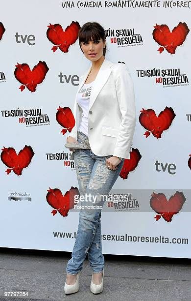 Actress Pilar Rubio attends 'Tension Sexual No Resuelta' photocall at Princesa Cinema on March 17 2010 in Madrid Spain