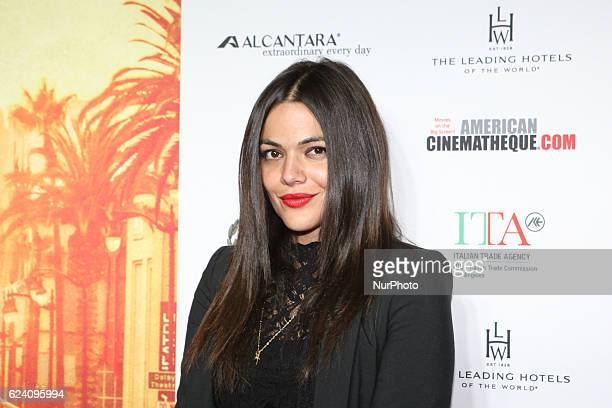 Actress Pina Turco attends a Conversation with Gianfranco Rosi and screening of Fire at Sea at AFI Fest 2016 presented by AUDI at the Graumans...