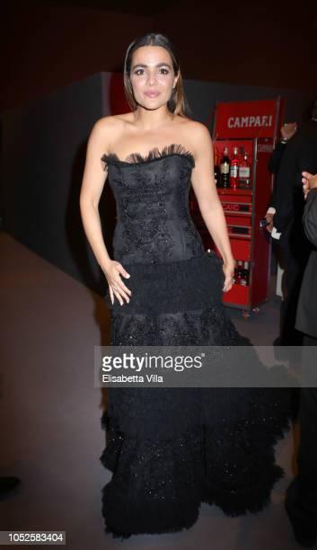 """Actress Pina Turco of the movie """"Il Vizio Della Speranza"""" is seen at the Campari Red Room during the 13th Rome Film Fest at Auditorium Parco Della..."""