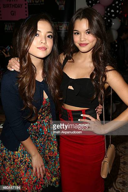 Actress Piper Curda and Paris Berelc attend G Hannelius's 16th Birthday Celebration at Palihouse on December 13 2014 in West Hollywood California