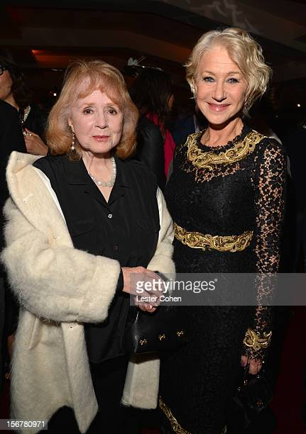 Actress Piper Laurie and Dame Helen Mirren attend the after party for the premiere of Fox Searchlight Pictures' Hitchcock at the Academy of Motion...