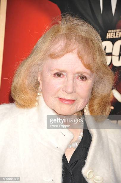 Actress Piper Laurie arrives at the premiere of Hitchcock held at the Academy of Motion Picture Arts and Sciences in Beverly Hills