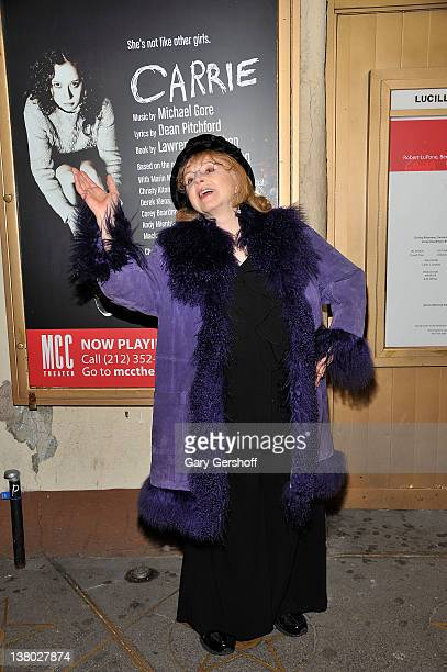 23e9f355f6970 Actress Piper Laurie attends the Carrie cast photo call at the Lucille  Lortel Theatre on January