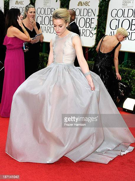 Actress Piper Perabo arrives at the 69th Annual Golden Globe Awards held at the Beverly Hilton Hotel on January 15 2012 in Beverly Hills California
