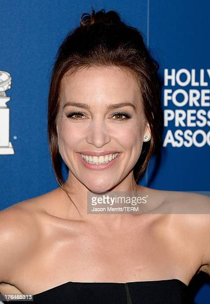 Actress Piper Perabo attends Hollywood Foreign Press Association's 2013 Installation Luncheon at The Beverly Hilton Hotel on August 13 2013 in...