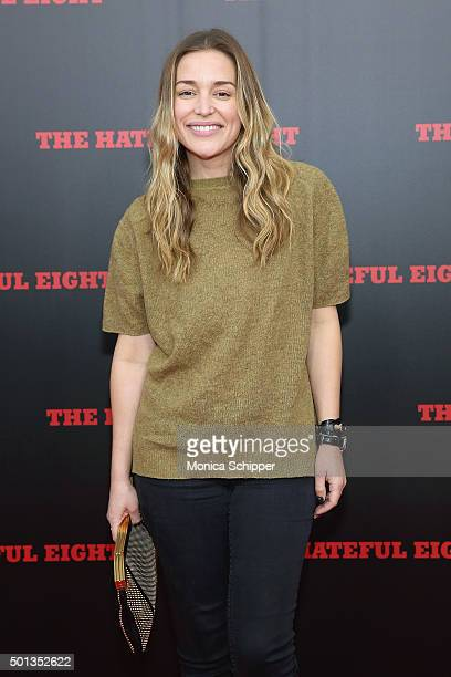 Actress Piper Perabo attends the The New York Premiere Of 'The Hateful Eight' on December 14 2015 in New York City