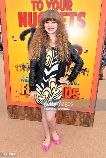 Actress Piper Reese arrives at the premiere of Relativity Media's Free Birds at the Westwood Village Theatre on October 13 2013 in Hollywood...