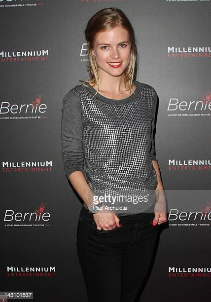 Actress Pippa Black attends the Bernie Los Angeles premiere at the ArcLight Cinemas on April 18 2012 in Hollywood California