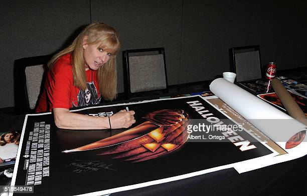Actress PJ Soles attends the 2016 Days Of The Dead Convention held at Burbank Airport Marriott on April 2 2016 in Burbank California
