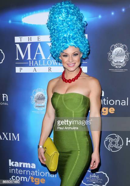 Actress / Playboy Playmate Nikki Leigh attends the 2017 Maxim Halloween party at Los Angeles Center Studios on October 21 2017 in Los Angeles...