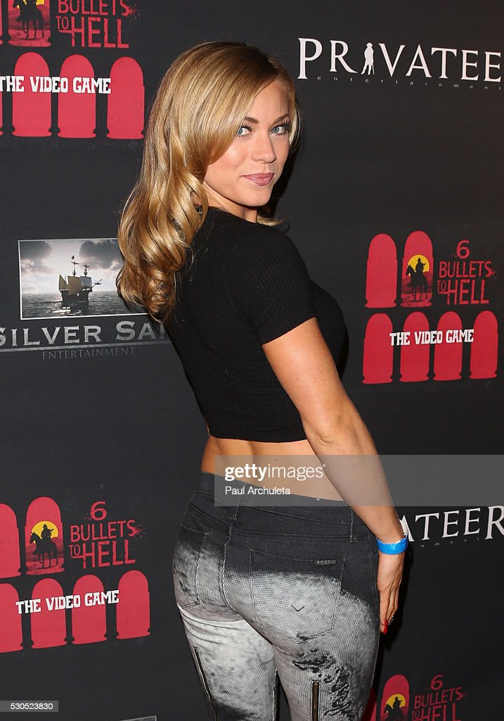 Actress / Playboy Playmate Nikki Leigh attends the launch of '6 Bullets To Hell' the video game and the movie on May 10, 2016 in Los Angeles, California.