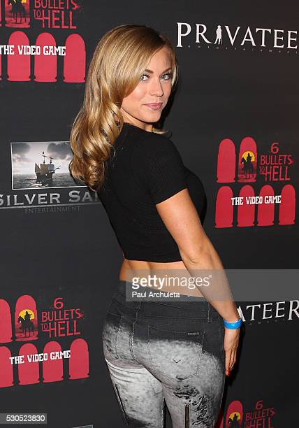 Actress / Playboy Playmate Nikki Leigh attends the launch of 6 Bullets To Hell the video game and the movie on May 10 2016 in Los Angeles California
