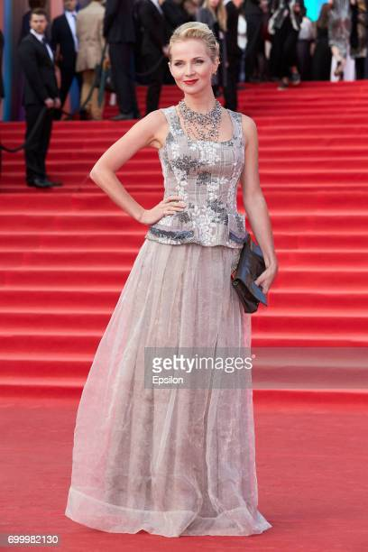 Actress Polina Borunova attends opening of the 39th Moscow International Film Festival outside the Karo 11 Oktyabr Cinema on June 22 2017 in Moscow...