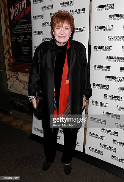 Actress Polly Bergen attends the 'The Mystery Of Edwin Drood' Broadway Opening Night at Roundabout Theatre Company's Studio 54 on November 13 2012 in...