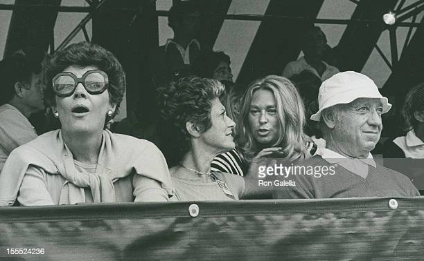 Actress Polly Bergen Senator Jacob Javits wife Marion Javits and Joan Kennedy attend Seventh Annual Robert F Kennedy ProCelebrity Tennis Tournament...