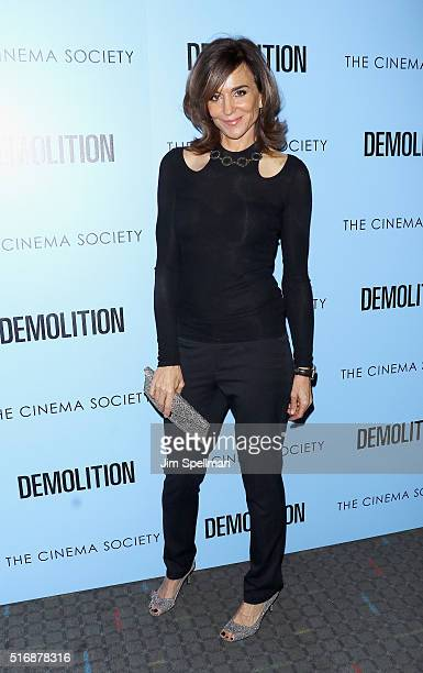 Actress Polly Draper attends the Fox Searchlight Pictures with The Cinema Society host a screening of Demolition at the SVA Theater on March 21 2016...