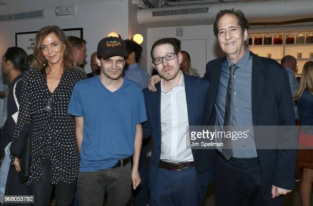 Actress Polly Draper director Ari Aster and musician Michael Wolff attend the screening after party for 'Hereditary' hosted by A24 at Metrograph on...