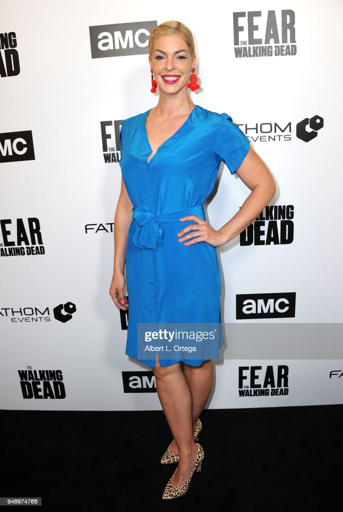 Actress Polly McIntosh arrives for the Fathom Events And AMC's 'Survival Sunday: The Walking Dead And Fear The Walking Dead' held at AMC Century City 15 theater on April 15, 2018 in Century City, California.