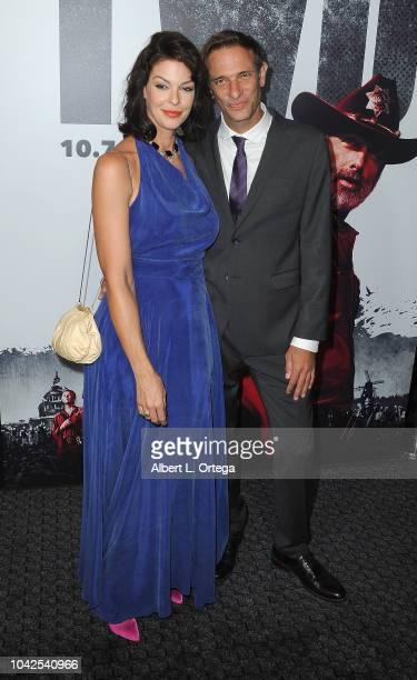 Actress Pollyanna McIntosh and guest arrive for the Premiere Of AMC's 'The Walking Dead' Season 9 held at DGA Theater on September 27 2018 in Los...