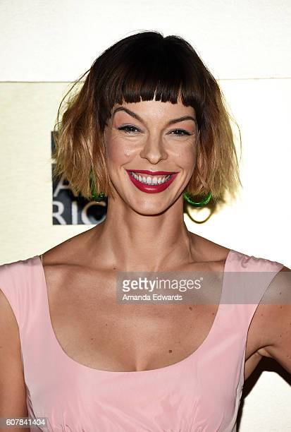 Actress Pollyanna McIntosh arrives at the AMC Networks' 68th Primetime Emmy Awards AfterParty Celebration at BOA Steakhouse on September 18 2016 in...