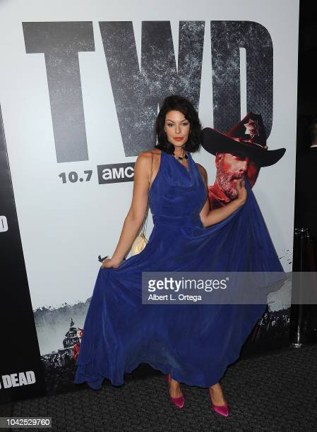 Actress Pollyanna McIntosh arrives for the Premiere Of AMC's 'The Walking Dead' Season 9 held at DGA Theater on September 27 2018 in Los Angeles...