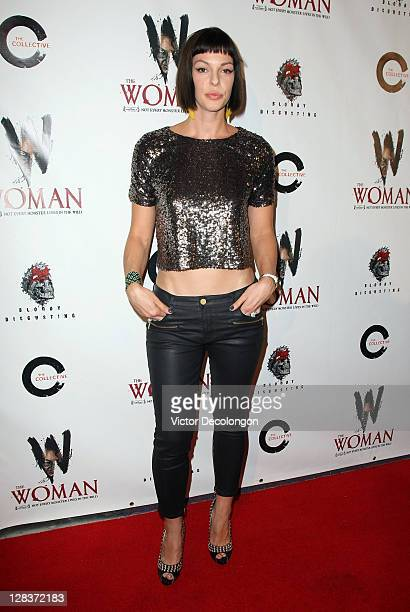 Actress Pollyanna McIntosh arrives for the premiere of The Woman at Laemmle Sunset 5 Theatre on October 6 2011 in West Hollywood California