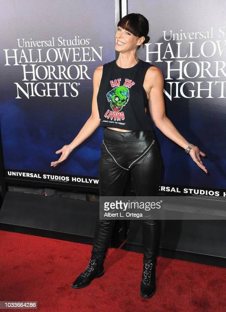 Actress Pollyanna McIntosh arrives for Universal Studios Hollywood's Opening Night Celebration Of 'Halloween Horror Nights' held at Universal...