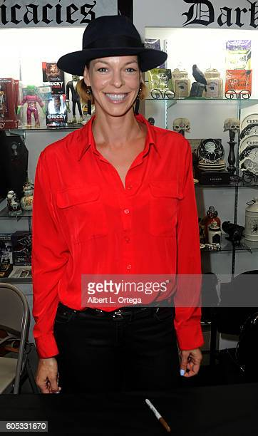 Actress Pollyanna McIntosh at the Signing For The BluRay Release Of Tales Of Halloween held at Dark Delicacies Bookstore on September 10 2016 in...
