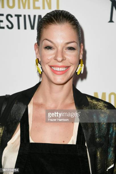 Actress Pollyanna McIntosh attends Moet Chandon Celebrates 3rd Annual Moet Moment Film Festival and Kick Off of Golden Globes Week at Poppy on...
