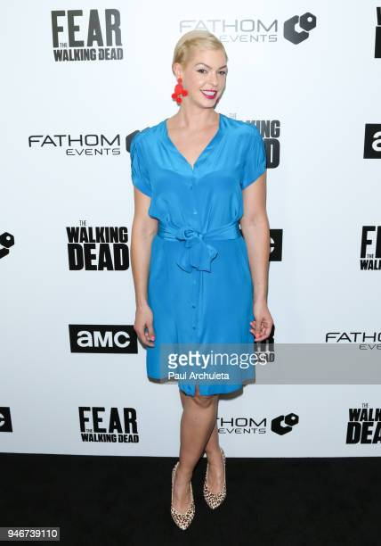 Actress Pollyanna McIntosh attends 'Survival Sunday The Walking Dead and Fear The Walking Dead' at AMC Century City 15 theater on April 15 2018 in...