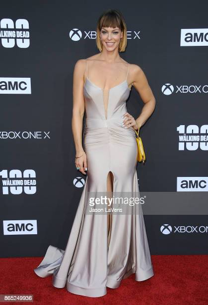 Actress Pollyanna McIntosh attends the 100th episode celebration off The Walking Dead at The Greek Theatre on October 22 2017 in Los Angeles...