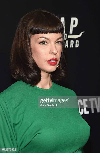 Actress Pollyanna McIntosh attends the Hap and Leonard New York screening at Hill Country on February 25 2016 in New York City